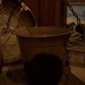 Tan & Black bucket